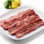 US ショートリブ (骨付きカルビ) スライス 500g 焼き肉・BBQ・バーベキューに 骨付きジューシーで旨みたっぷり