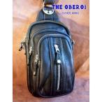 バッグ メンズ ショルダー カバン 鞄 ブラック 牛革 レザー ショルダーバッグ ボディバッグ ワンショルダー オーバーラップ