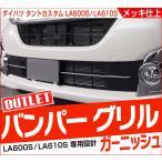 アウトレット品/期間限定特価 ダイハツ タントカスタム LA600S LA610S フロント バンパー グリル メッキ カバー ガーニッシュ 2P