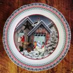 ジアン クリスマスイヤープレート2018 『Chalet(シャレー)』 数量限定デザートプレート22.4cm 陶器製の画像