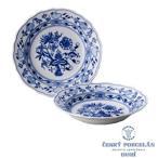 ブルーオニオントラディション  スーププレート24cm(パスタ皿)2枚セット   BOHEMIA BLUE ONION