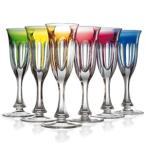 シャンパングラスセット カリクリスタルガラス製 モーゼル レディハミルトン  フルート  カラー6色セット