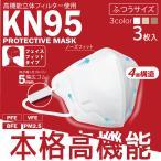 KN95 プロテクティブ マスク 3枚入り 5Pセット 計15枚 3色 高性能 立体 幅広ゴム 花粉 ハウスダスト ウイルス 細菌 飛沫 PM2.5 微粒子 M便