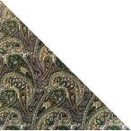 三角巾ペイズリー柄 ダークグリーン