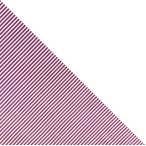 三角巾ストライプ 白Xワイン