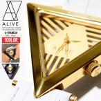 ALIVE アライブ 腕時計 A-FRAME SHELLY Gold/White 時計 ファッション 小物 アクセサリー