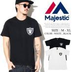 MAJESTIC マジェスティック Tシャツ メンズ 半袖 ロゴ オークランド レイダース OAKLAND RAIDERS B系 ファッション メンズ ヒップホップ ストリート HIPHOP