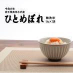 無洗米 ひとめぼれ 5kg×2袋 岩手県奥州水沢産 令和1年産 10kg