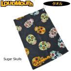 メール便可250円 日本規格 ラウドマウス ゴルフ タオル フック付き Sugar Skulls シュガースカル  777933(058)  17FW Loudmouth ゴルフ用品 ラウンド用品 OCT2