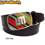日本規格 ラウドマウス メンズ レザーベルト (Hot Dog ホットドッグ) 777905(072)   18FW Loudmouth ゴルフウェア 男性用 ボトムス Belt