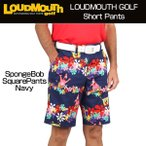 ラウドマウス Loudmouth ゴルフ メンズウエア ショートパンツ SpongeBob Squa ...