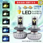 ショッピングLED LEDヘッドライト フォグランプ H4 Hi/Lo H7 H8 H9 H11 H16 HB3 HB4 3000LM 2200lm 28W 20W ファンレス 12V 24V CREE カラーフィルム付き 発光色を自由に変更