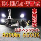 Philips LED ヘッドライト H4 Hi/Lo 2個セット 新基準車検対応 6500k 8000LM フィリップス 12V/24V車兼用 ファンレス ハロゲンフィラメント並みの細い発光
