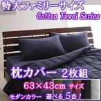 枕カバー 43×63 2枚組 綿100% モダンカラー5色