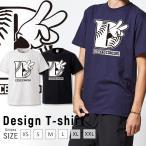 Tシャツ メンズ レディース 半袖 UNISEX Deuces ピースサイン ハンドサイン Mickey hands HIP HOP ヒップホップ クルーネック Uネック プリントTシャツ