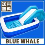 ショッピングプール BLUE WHALE POOL すべり台付き ブルーホエールプール