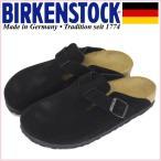 ショッピングサボ BIRKENSTOCK (ビルケンシュトック) WMS BOSTON (ボストン) スエードレザー レディースサンダル ナロー(幅狭) Black BI090
