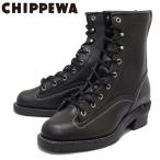 CHIPPEWA (チペワ) 1935 8inch LACED-TO-TOE LOGGER BOOTS 8インチ レーストゥトゥ ロガーブーツ BLACK 保証書付