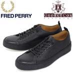 FRED PERRY (フレッドペリー)XGEORGE COX (ジョージコックス) Wネーム B1174-102 TENNIS SHOE S/L スニーカー 102-BLACK FP267