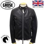 JAMES GROSE (ジェームスグロース) MEN'S CLUBMAN HHL JKT (メンズ クラブマン ホースハイド レザージャケット) BLACK JG018