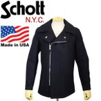 Schott (ショット) 779 WOOL PEA COAT FRONT ZIP (ウールピーコート フロントジップ) 087-NAVY