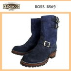 Wescoウエスコ Boss ボス Navy Rough Out ネイビーラフアウト,9height,#100sole,2straps,Brass Bucles BS69