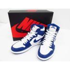 《メンズ靴》NIKE AIR JORDAN 1 RETRO HIGH OG 555088-127 WHITE/STORMBLUE SIZE:29.0cm【中古】