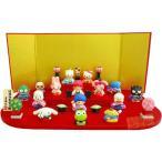Sanrio ハローキティ 段飾り 15人セット 十五人飾り 雛人形 ひな人形 183225 おしゃれ コンパクト