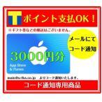 ショッピングチケット コード専用 アップル iTunes Card アイチューンズ App Store & iTunes ギフトカード 3000 ギフトコード 3000円分 (ギフト券・金券・ポイント消化に)