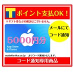 ショッピングチケット コード専用 アップル Apple iTunes Card アイチューンズ App Store & iTunes ギフトカード 5000 ギフトコード 5000円分 (ギフト券・金券・ポイント消化に)