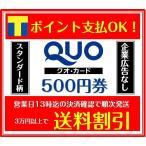 クオカードQUO500円券スタンダード柄(ギフト券・商品券・金券・ポイント消化)(3万円でさらに送料割引)