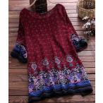 チュニック ダマクス柄 アジアン エスニック 送料無料 ゆったり着る チュニック Mサイズ Lサイズ F6B 4色