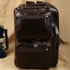 ショッピングリュックサック 潮牛 送料無料 3WAY仕様 ヌメ革本革レザー メンズ リュックサック ディパック バックパック  通勤通学 旅行鞄 ボストンバッグ 14PC対応 A4