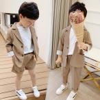 キッズ 男の子 スーツ フォーマル 子供服 上下セット カジュアルスーツ 韓国風 結婚式 入学式 卒業式 入園式 卒園式 パーティー