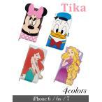 スマホケース Tika ティカ iphone6/6s/7 ディズ二ー アイホンケース(4colors)ミニーマウス ドナルドダック アリエル ラプンツェル