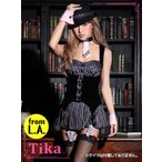 ショッピングコスプレ コスプレ ハロウィン Tika ティカ 5set ギャングコスチュームセット ドレス 仮装 衣装