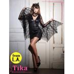 ショッピングコスプレ コスプレ ハロウィン Tika ティカ 3setこうもりコスチュームセット コスチューム  ドレス 仮装 衣装