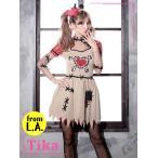 ショッピングコスプレ コスプレ ハロウィン Tika ティカ 2setゾンビコスチュームセット ドレス 仮装 衣装