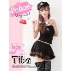 ショッピングコスプレ コスプレ衣装♪Tika ティカ 3setポリスコスプレセットアップ(ブラック)