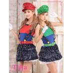【Tikaティカ】コスプレハロウィン6setマリオとルイージ風セットコスチュームドレス仮装衣装