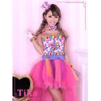 コスプレ 衣装 5set 2way キャンディーカラーダンサーコスチュームセット
