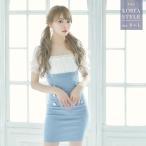 キャバドレス 韓国 大きいサイズ キャバクラドレス パフスリーブ シフォン ギャザー サロペット風 タイトドレス ミニドレス