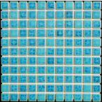 25角タイル モザイクタイル シードロップ 緑色窯変ミックス シート(121粒)販売です。 アンティーク 水のゆらぎ調のカラフルなミックス デザインです。内 外、床