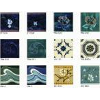 アンティーク デザインタイル 150角 花 イスラム・ヨーロッパ風(昭和レトロ)な磁器絵タイルです。インテリア 壁、床(キッチン カウンター・浴室)のDIYリ