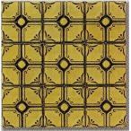 モザイクタイル シート 花柄 磁器質 昭和レトロ風 茶色。ミックスデザインタイル対応、おしゃれなアンティーク、レトロモダン風。キッチン・玄関・テーブル・浴