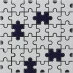 モザイクタイル シート パズル 磁器質 白 紺。ミックスデザインタイル対応、おしゃれなアンティーク、レトロモダン風。キッチン・玄関・テーブル・浴室(風呂)