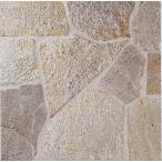 サンドゴールド 乱形石  濃ベージュ 約0.5平米/ケース販売です。洋風建築物用建材です。床・壁用、玄関 ポーチ、エントランス、塀、門柱、ガーデニング等の