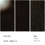 ストロングブラック 大理石調(磨き・マット・スレート) 300X600 磁器 タイル(黒)1枚からの販売 内床(ベランダ・玄関・土間・リビング フロア) 壁(テーブ