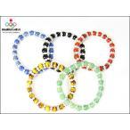 福袋 2014/オリンピック五輪/パワーストーンブレスレット/ロンデル飾り5色セット