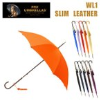 FOX UMBRELLAS (フォックスアンブレラ) 長傘 WL1 SLIM LEATHER 雨具 ブランド傘 レディース